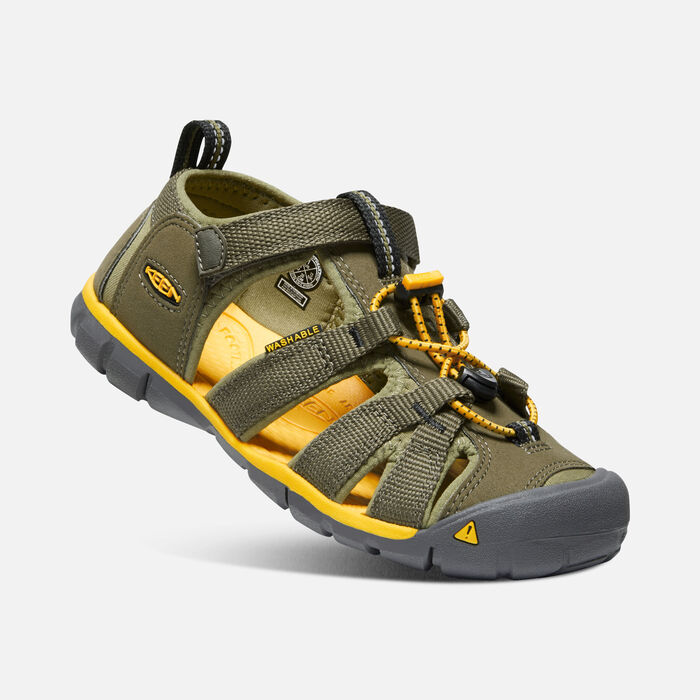 KEEN SEACAMP II CNX military olive/saffron vel.30