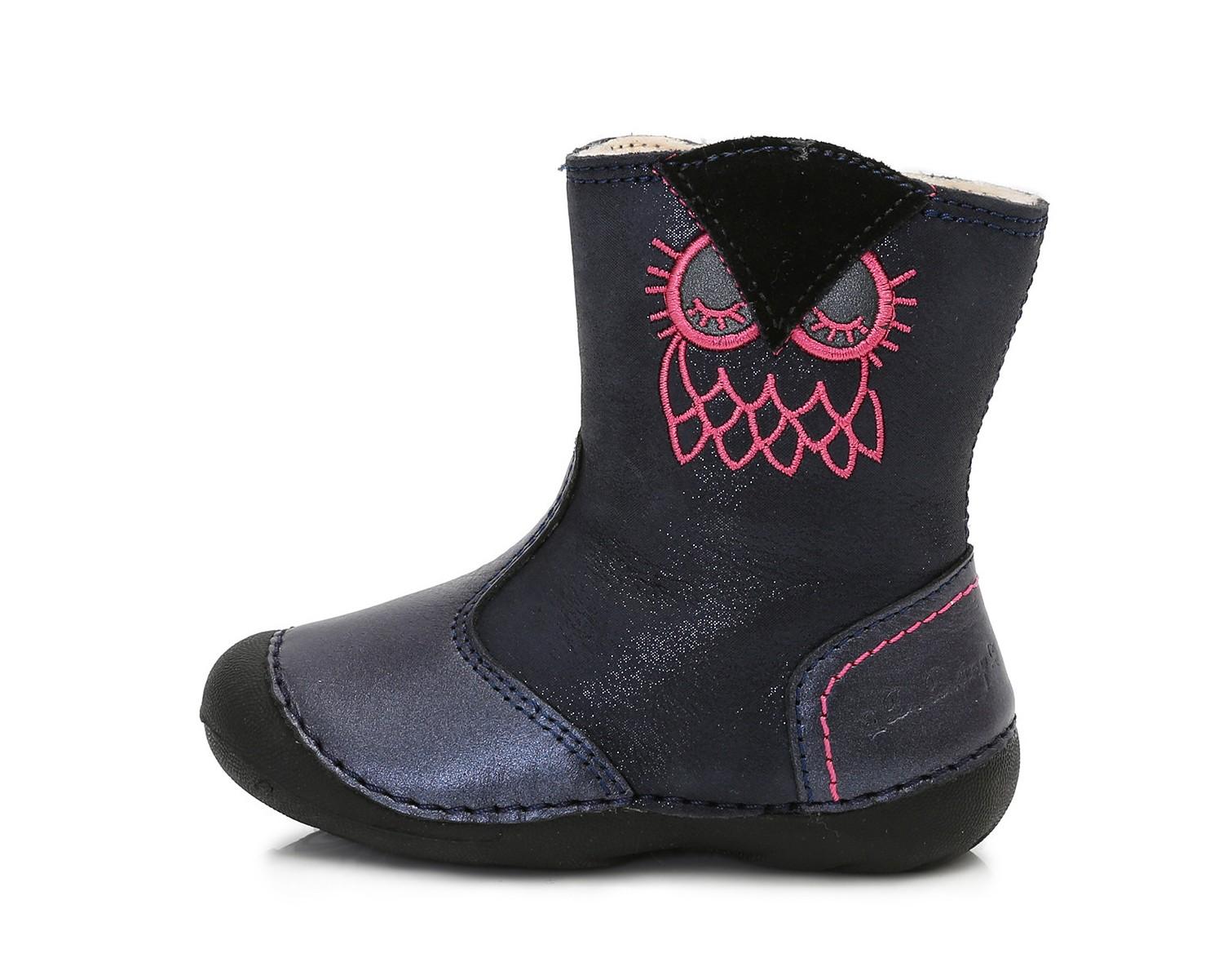 Dětské zimní boty D.D.STEP 015-160 modré se sovičkou vel.21 empty a098a885a6