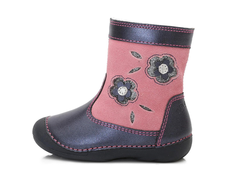 Dětské zimní boty D.D.STEP 015-159A kytičky vel.21 7288fdf1ce