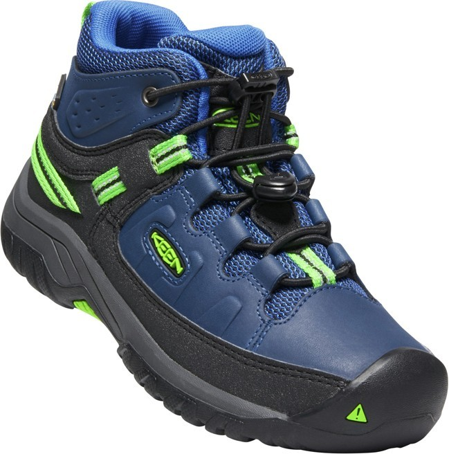 KEEN TARGHEE MID WP JR blue opal/bright green vel.32/33