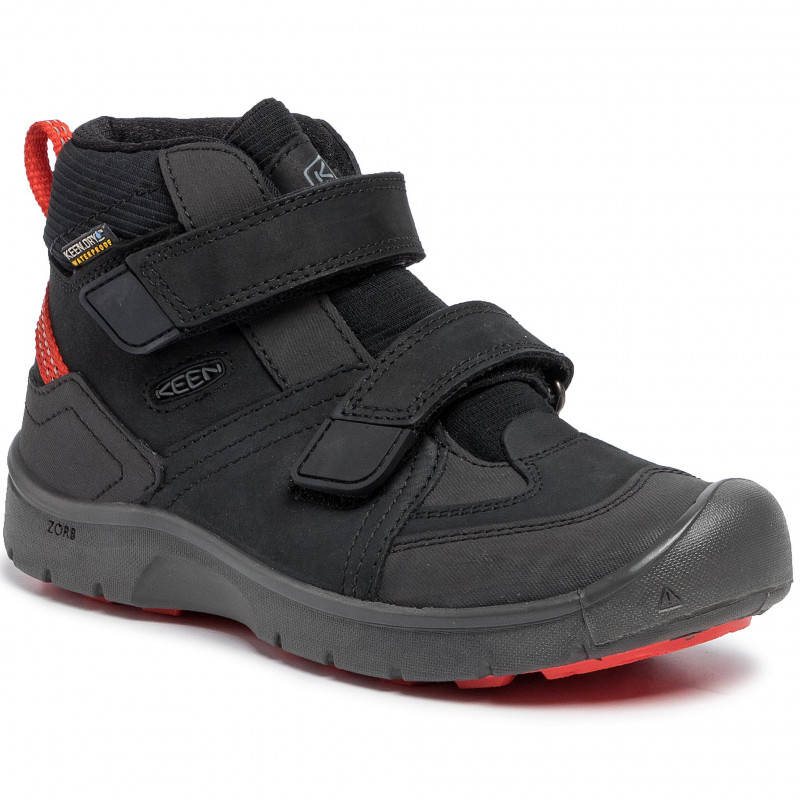 KEEN HIKEPORT MID WP K black/bright red vel.36