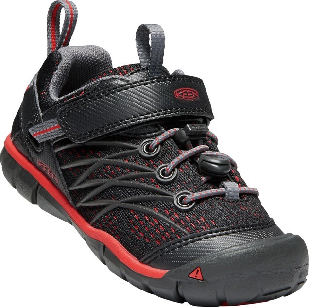 KEEN Chandler CNX raven/fiery red vel.24