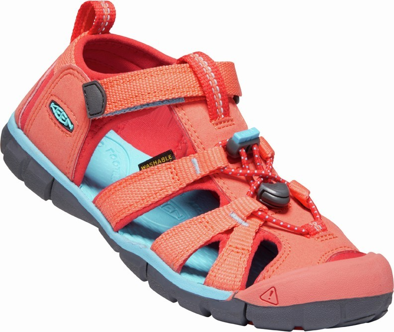 KEEN SEACAMP II CNX coral/poppy red vel.29