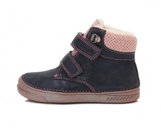 bcf7cee3c51 Dětské zimní boty D.D.STEP 040-423CL modro-růžové vel.33